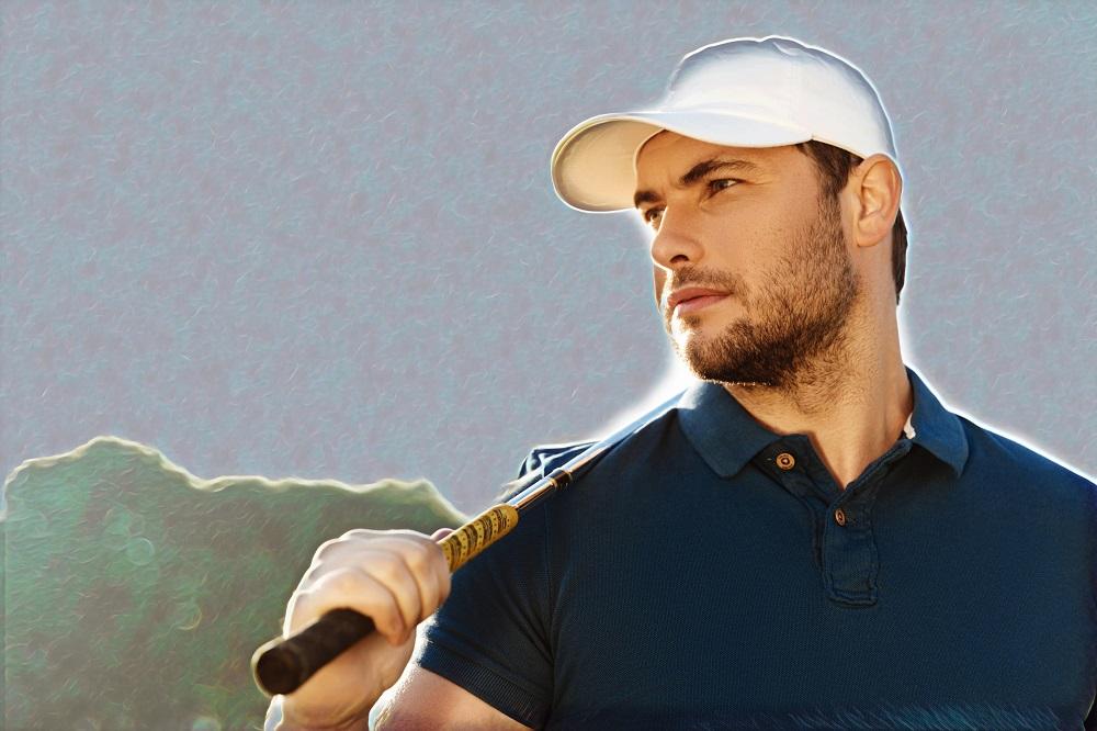 Golfer met vertrouwen