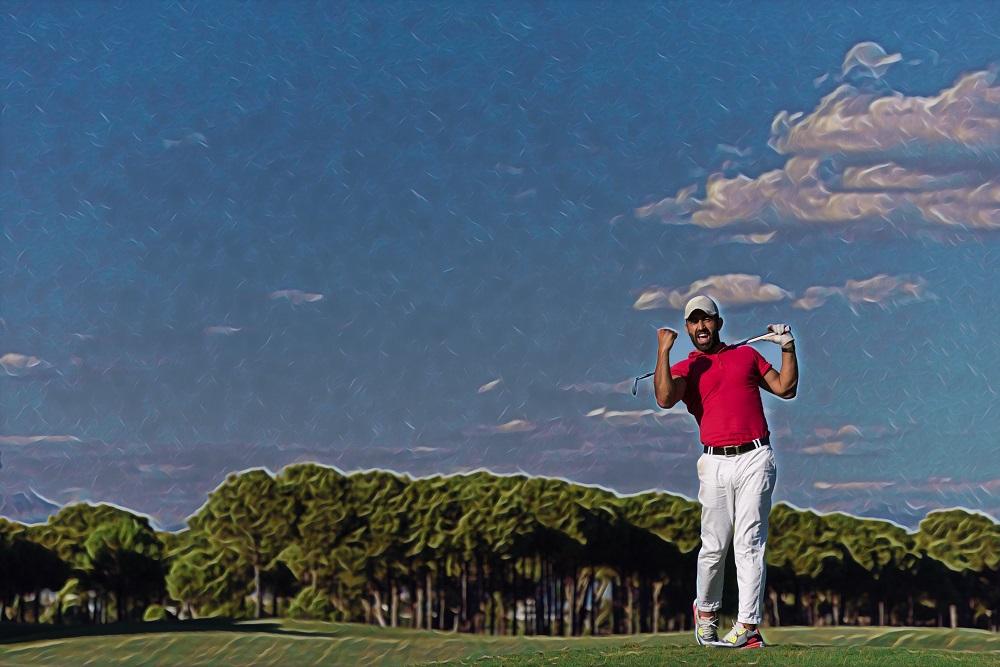 Golfer juicht